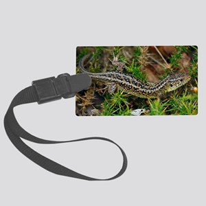 Male sand lizard Large Luggage Tag