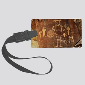Fremont Rock Art 2x8pt31 Large Luggage Tag