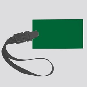 Dark Spring Green Solid Color Luggage Tag