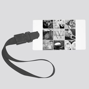 Elegant Photo Block and Monogram Luggage Tag