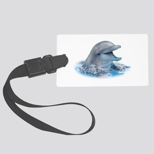 Happy Dolphin Large Luggage Tag