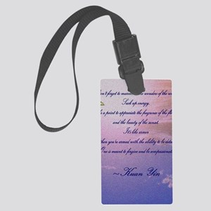 GRATITUDE POEM Large Luggage Tag