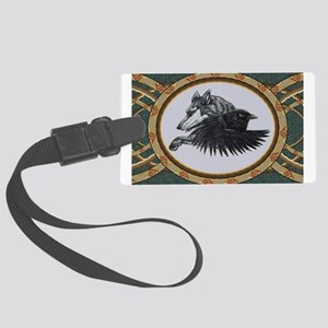 RAVEN WOLF SKETCH Luggage Tag