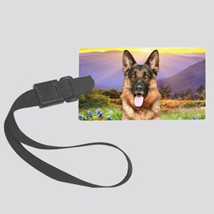 meadow(oval) Large Luggage Tag