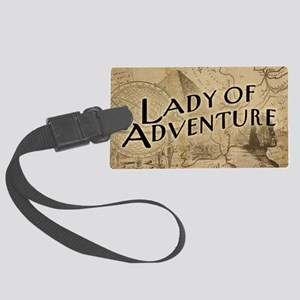 Lady Of Adventure Large Luggage Tag