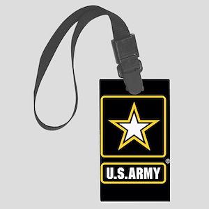 US ARMY Gold Star Logo Black Luggage Tag