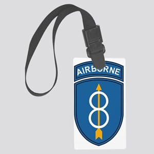 Army-8th-Infantry-Div-Airborne Large Luggage Tag