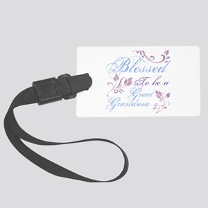 Blessed To Be A Great Grandma Large Luggage Tag