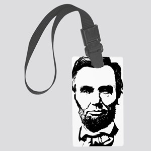 Abe Lincoln Silhouette Large Luggage Tag