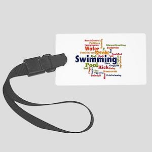 Swimming Word Cloud Luggage Tag