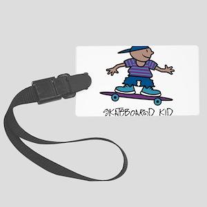 Skateboard Kid Large Luggage Tag