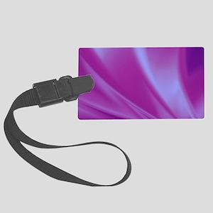Veils of Purple Fractal Large Luggage Tag