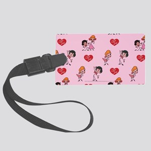 I Love Lucy: Pattern Large Luggage Tag
