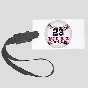 Baseball Player Name Number Large Luggage Tag