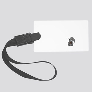 Short Attention Black Large Luggage Tag