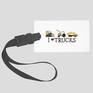 I Love Trucks Large Luggage Tag