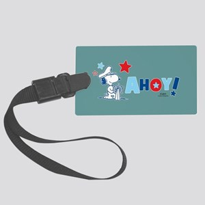 Snoopy AHOY Full Bleed Large Luggage Tag