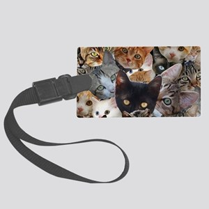 Kitty Collage Large Luggage Tag