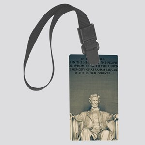 Lincoln Memorial Large Luggage Tag