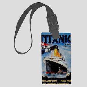 Vintage Titanic Travel Large Luggage Tag