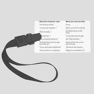 Engineer Translation Guide Large Luggage Tag