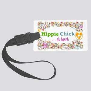 Hippie Chick at Heart Large Luggage Tag