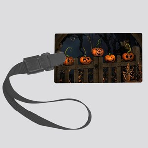 All the pretty pumpkins in a row Large Luggage Tag