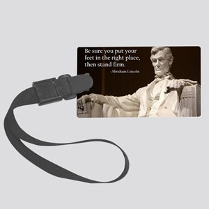Lincoln Inspirational Quote Large Luggage Tag