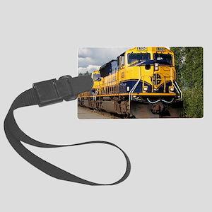 Alaska Railroad engine Large Luggage Tag