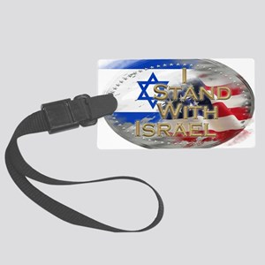 I stand with Israel Large Luggage Tag