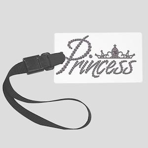 Diamond Princess and Tiara Large Luggage Tag