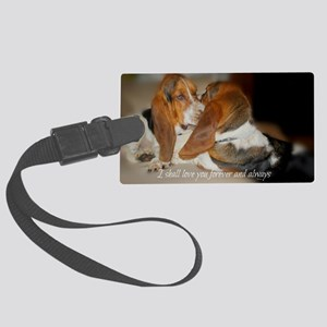 Rescue a hound today Large Luggage Tag