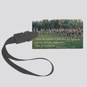 Running a Race Large Luggage Tag