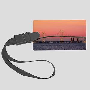 Newport Bridge, Rhode Island Large Luggage Tag