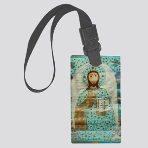ChristTeacherLaptop Large Luggage Tag