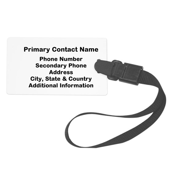 Luggage Tag Contact Information