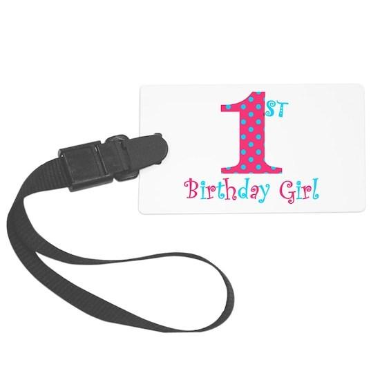 1st Birthday Girl Teal  Pink