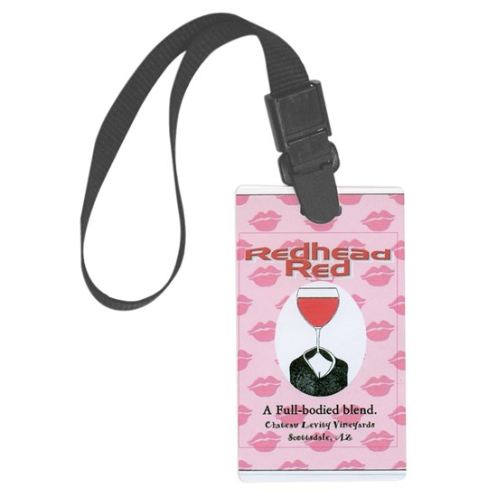 Redhead Red Faux Wine Label