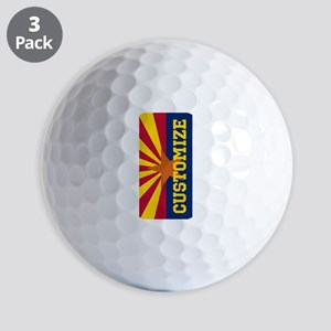 Personalized State Flag of Arizona Golf Ball