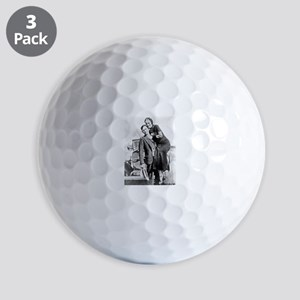 Bonnie and Clyde Golf Ball