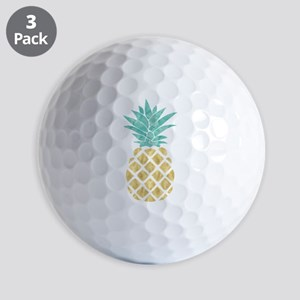 Golden Pineapple Golf Ball