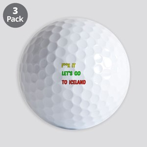 Let's go to Iceland Golf Balls