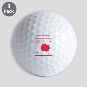 Bonne Fete Maman Mothers Day French Golf Balls