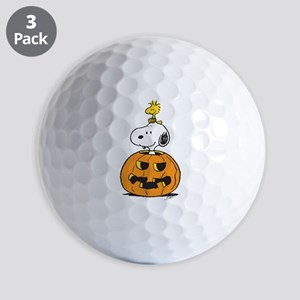 Snoopy and Woodstock Halloween Golf Balls