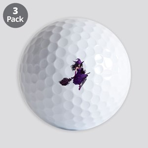 Sexy Purple Halloween Witch Golf Balls