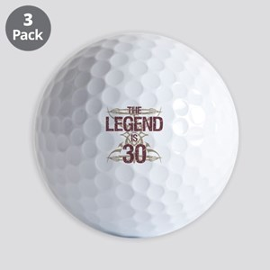 Men's Funny 30th Birthday Golf Balls