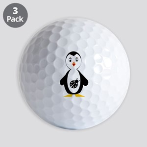 lady bug penguin Golf Balls