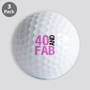 Fabulous 40th Birthday Golf Balls