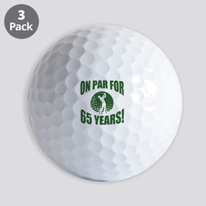 Golfer's 65th Birthday Golf Balls