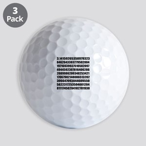Pi number to many decimal places Golf Balls